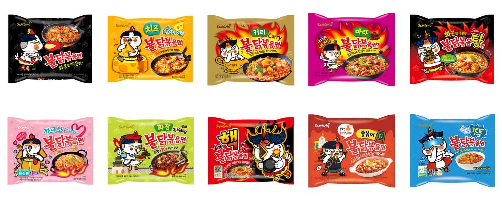 Samyang Noodles collection